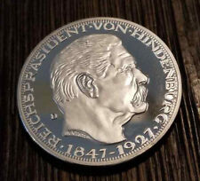 German Karl Goetz Medal Medallion coin Hindenburg 50 years 1927 24K silver clad
