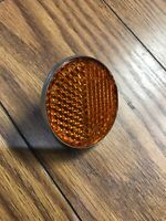 """Genuine Lucus RER 14 Amber 2 1/4"""" Reflector Vintage Norton Triumph BSA Pre Owned"""