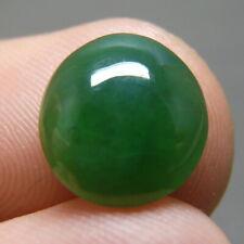 NICE 3.55 ct Genuine Jadeite Jade (Natural-Type A) Deep Green-White Cabochon
