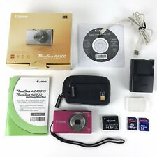 Canon PowerShot A2300 16.0MP Digital Camera 5X Zoom ,Red / Pink Complete Kit