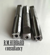 8mm by 1.25 coarse pitch carbon steel taps (set of three). Quality tools by Groz