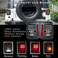LED Tail Lights Arrow Turn Signal Reverse Lamps For Jeep Wrangler 07-16 EU MODEL