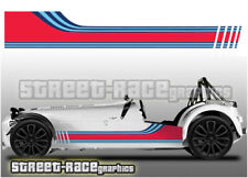 Caterham Martini 006 racing stripes graphics stickers decals Superlight R500