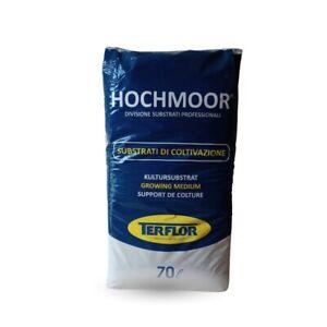 Terriccio substrato professionale TERFLOR HOCHMOOR, in sacco da 70 LT