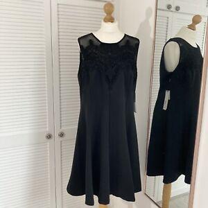 Roman Originals Lace Yoke Skater Dress Size 20 Special Occasion Evening NWT £60