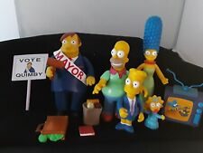lot of Simpsons Playmates WOS World of Springfield interactive accessories