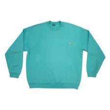 Fruit of the Loom Logo Sweatshirt   Vintage 90s Green Jumper