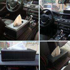 PU Leather Tissue Box Cover Paper Case Holder Home Car Decor New Box Organizer