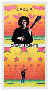 """Jerry Garcia POSTER - Compliments - Promo ad -  Grateful Dead 24"""" AMAZING PRINT"""