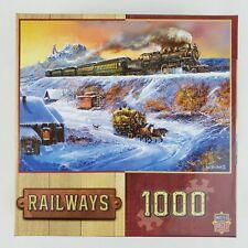 "Master Pieces Railways Ted Blaylock 1000 Piece Masterpieces Puzzle 26.5""/19.25"""