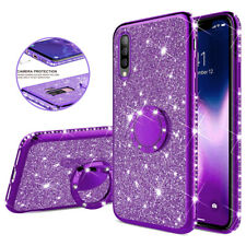 Magnetic Ring Holder Glitter Silicone Case Cover for SamsungGalaxy A50 A30 J4 J6