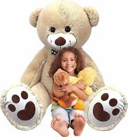 Inflatable Teddy Bear 5ft Plush Cuddly Toy for Kids Huge Big Inflate-A-Mals