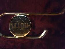 Zugposaune mit Koffer, goldfarbiges Instrument, guter Zustand