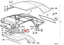 Genuine BMW E36 Cabrio Convertible Folding Top Lock OEM 54218163657