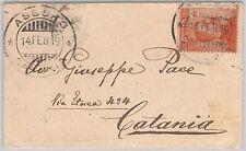 ENNA --- ITALIA REGNO:  storia postale - BUSTA  da Assoro 1919