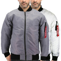 Men's Zip Up Premium Water Resistant Padded Contender Flight Bomber Jacket