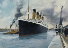 RMS Titanic White Star Line Ocean Liner Southampton Marine Painting Art Print