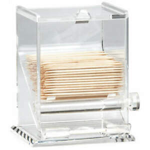 """TABLECRAFT PRODUCTS COMPANY 228 Toothpick Dispenser,3-1/4""""W  x 4""""H,Clear"""