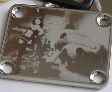Chrome Engraved Pin Up Junker Guitar Neck Plate  fits Fender tele/strat/squier