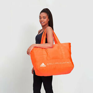 ADIDAS BY STELLA MCCARTNEY TRAVEL DUFFEL GYM BAG ORANGE FP9458 NEW