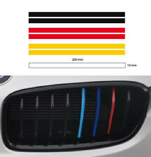 German grill 10mm flag M stripe decal sticker E36 E46 E39 E60 E90 F10 F30 BMW