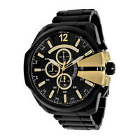 100% New Diesel DZ4338 Mega Chief Chronograph Black Stainless Steel Men's Watch
