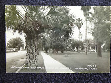 1947 RPPC Archer Park and Hotel Casa De Palmas McAllen, Tx Texas PC