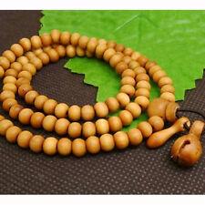 8mm Tibet Buddhism 108 Peach wood Prayer Bead Mala