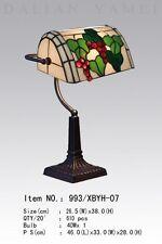 Banker Lampe Tiffanylampe Tiffany Schreibtischlampe Trauben Blätter, neu, T103M
