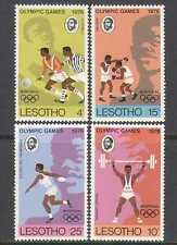 Lesotho 1976 Football/Sport/Olympics 4v set (n25034)