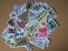 100 DIFFERENT STAMPS DEPICTING ANIMALS,EXCELLENT.