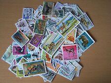 100 differenti francobolli raffiguranti animali, eccellente.