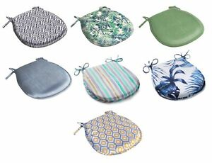 """Round Seat Pad Outdoor Water Resistant Garden Dining Chair Cushion 14"""" x 15"""""""