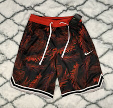NIKE Dri-FIT DNA Floral Basketball Shorts Red Black Size M *NEW* AR1321-657