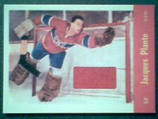JACQUES PLANTE  AUTHENTIC VINTAGE PIECE OF A GAME-USED JERSEY /90 SP