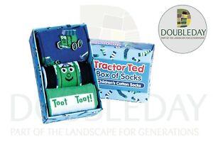 Tractor Ted Children's Box of Three Tractor Socks - Sizes 3.5-12 TT-SOCKTTLBLU