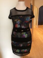 Joseph Ribkoff Dress Size 14 BNWT Black Multicoloured Floral RRP £280 Now £126