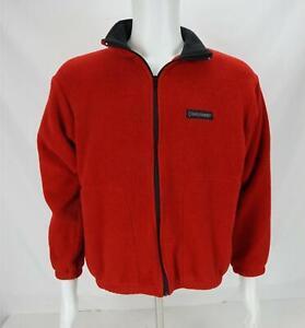 VTG Black Diamond Fleece Bomber Jacket Made in USA Red/Black Men's Small