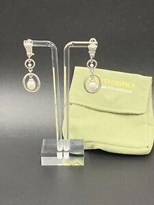 Judith Ripka Sterling Pearl Double Drop Earrings 🔥