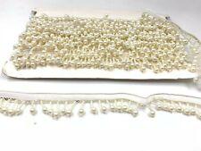White Pearl Bead Fringe Tassel Trim For Dance Costume Dress Trim Dresses
