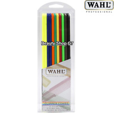 Professional Styling Clipper Combs Wahl in Assorted Colors 12pcs 3206-200