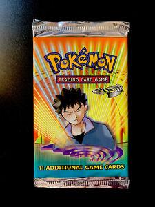 Pokemon Gym Heroes Booster Pack - Factory Sealed! Brock Artwork UNWEIGHED always