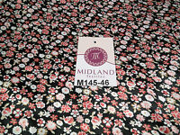 """Floral Ditsy Printed Silky Smooth Satin Dress Fabric 58"""" Wide M145-46-47-48"""