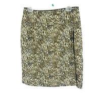 Worthington Womens Wrap Around Skirt  Animal Print Size 14 Black Beige