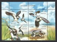 LITHUANIA 2018 LAPWING BIRDS BLOCK COMP. SET OF 4 STAMPS IN MINT MNH UNUSED