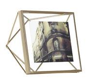 "Umbra Prisma Metallic 4"" x 4"" Picture Frame (Matte Brass) 313017-221"