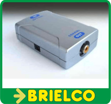 CONVERTIDOR ADAPTADOR ENTRADA AUDIO DIGITAL OPTICA TOSLINK A COAXIAL RCA BD6055