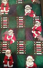 Santa Christmas Tie  Made in USA Green Navy Red