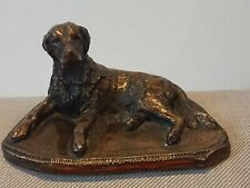 Irish Setter Waterside Arts Limited Bronze Dog Figurine Signed Parker