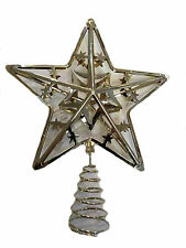 Metal Christmas Tree Top Star - Gold  NEW   25436